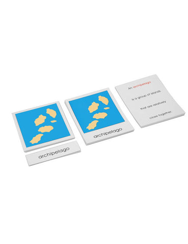 Land and Water Forms Card Set
