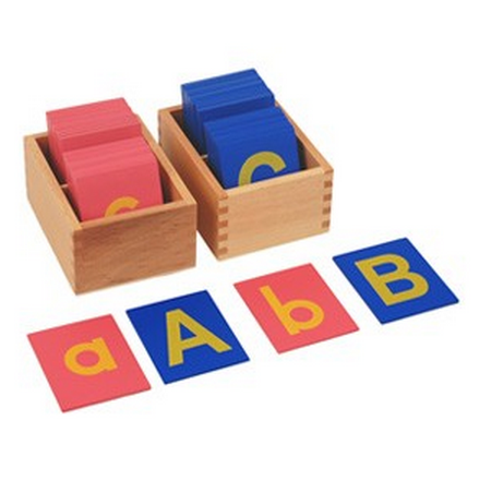 Lower and Capital Case Sandpaper Letters w/ Boxes