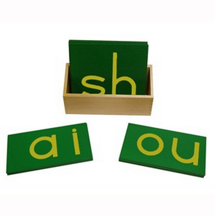 Lowercase Print Double Sandpaper Letters w/ Box