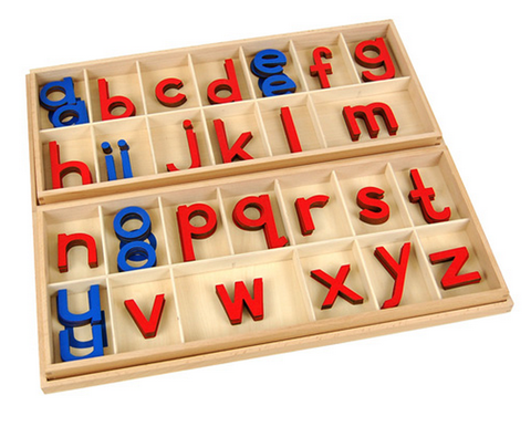 Wood- Large Moveable Alphabet (Red & Blue)