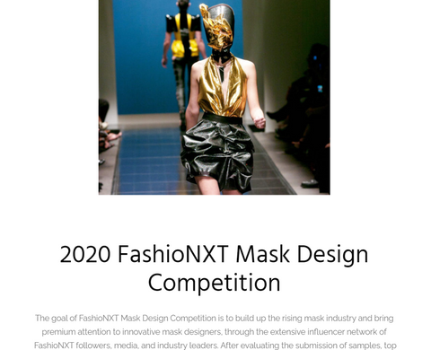 FashioNXT 2020 face mask competition