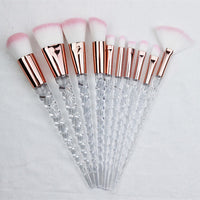10pcs Unicorn Makeup Brushes Sets Maquiagem Foundation Powder Cosmetic Blush Eyeshadow Women Beauty Glitter Make Up Brush Tools