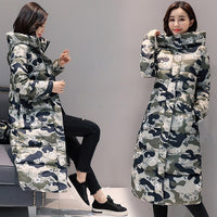 Winter jacket women coat 2020 fashion down jacket women hooded camouflage cotton warm thicken outerwear female winter down coat