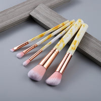FLD 10 Pcs/ 8 Pcs professional makeup brush Set tools Powder Foundation Eyeshadow Lip Eyeliner Blush Marble Face Makeup Brushes
