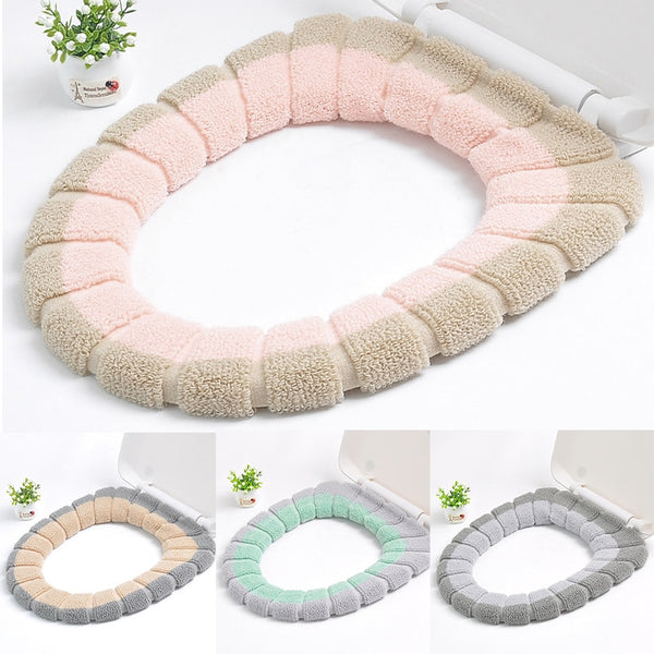 Universal Warm Soft Washable Toilet Seat Cover Mat for Home Decor Closestool Mat Seat Case Toilet Lid Cover Accessories