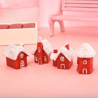 1-7pcs/set Miniature Christmas Tree Santa Claus Snowmen Terrarium Accessories Gift Box Fairy Garden Figurines Doll House Decor