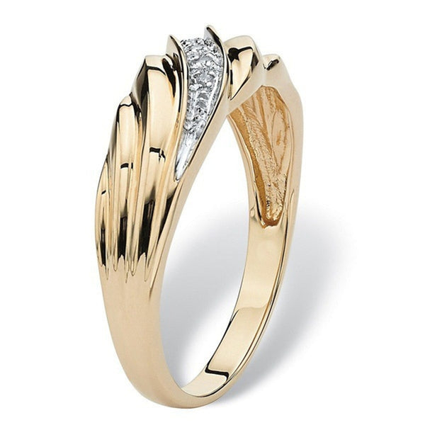 New Twisted Weaving Gold Ring Men Luxury Dainty Small Crystal Wedding Ring Anillos Mujer Gifts for Women