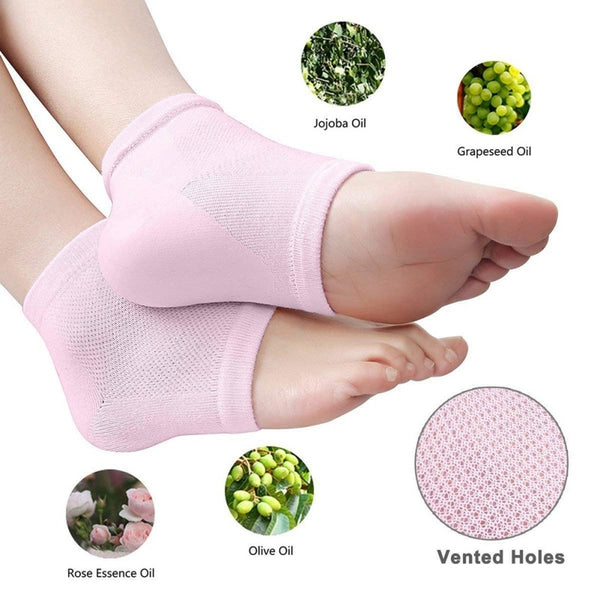 Moisturizing Gel Heel Socks Anti Cracked Foot Skin Care Protector Pain Relief Feet Massager Foot Care Blue Pro