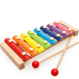 DIY Mini Baby Wooden Toy Montessori Xylophone Sand Hammer Harmonica Colorful Early Educational Funny Toys For Children Kids Gift