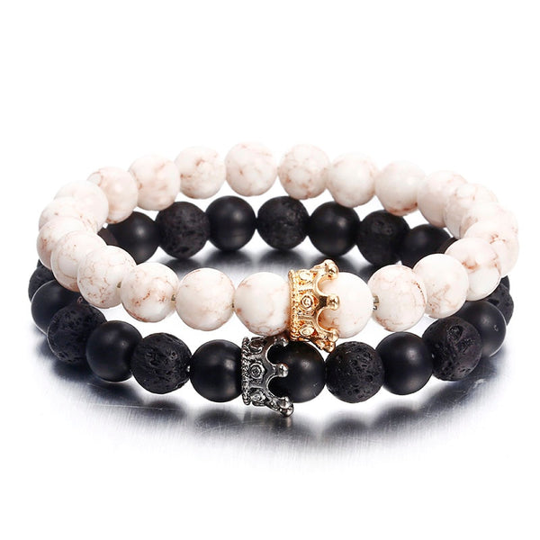 NS74 Newst 7 Chakra Bracelet Men Black Lava Healing Balance Beads Reiki Buddha Prayer Natural Stone Yoga Bracelet For Women