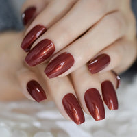 Ombre French Ballerina Fake Nail Gradeint Natural Coffin False Nails Wholesale Nails Supplier 24