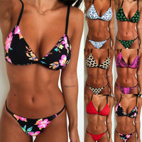 Hirigin Cartoon Pritned Sexy Bikini Set Women Swimwear 2020 New Push Up Padded Biquini Swimsuit Women Bathing Suit Swimming Suit