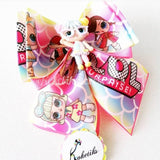 "LOL HARLEQUI ** Ribbon Boutique Bow / 6"" (Clay Applique) - My Sprinkle Girl"