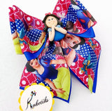 "Princess Snow White ** Ribbon Boutique Bow / 6"" (Clay Applique) Disney - My Sprinkle Girl"