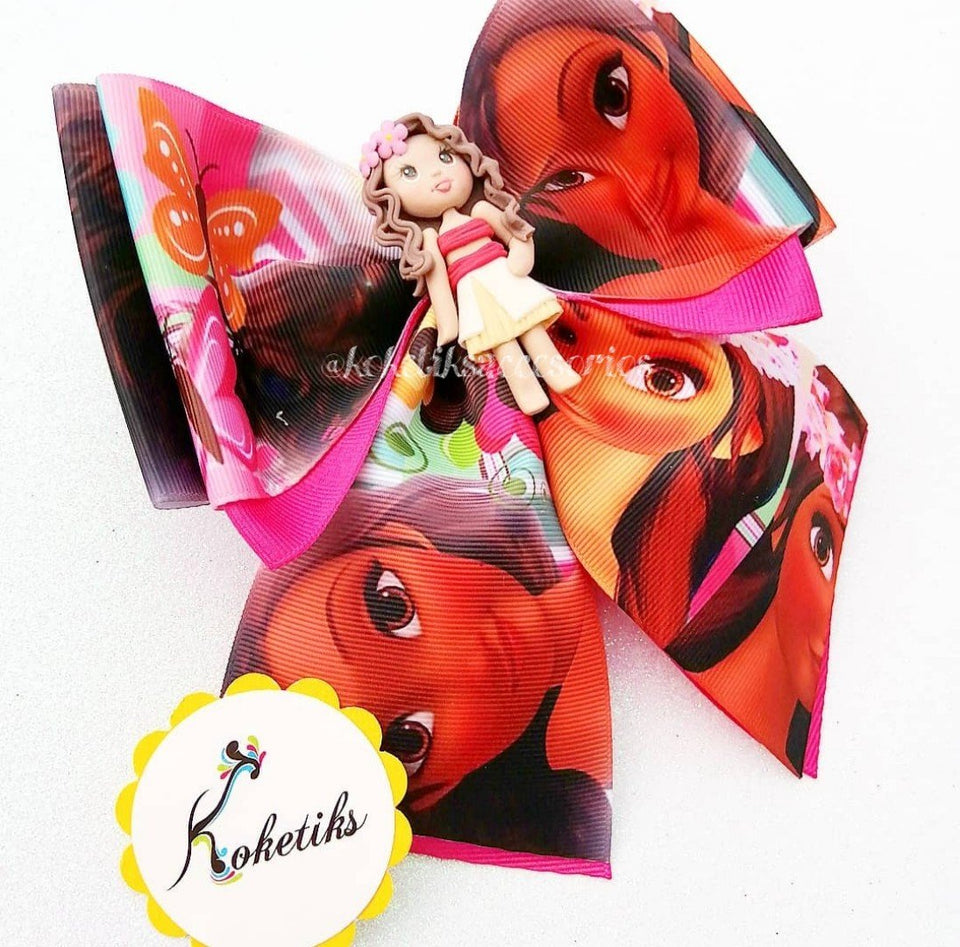 "Moana 2 ** Ribbon Boutique Bow / 6"" (Clay Applique) Disney - My Sprinkle Girl"