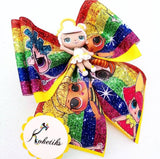 "LOL SUGAR ** Ribbon Boutique Bow / 6"" (Clay Applique) - My Sprinkle Girl"