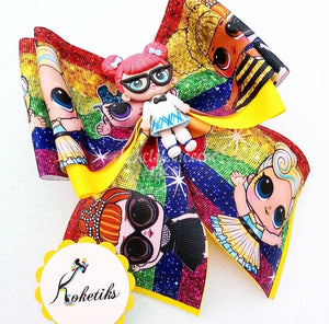 "LOL TEACHER ** Ribbon Boutique Bow / 6"" (Clay Applique) - My Sprinkle Girl"
