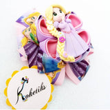"PRINCESS RAPUNZEL ** Ribbon Boutique Bow / 4"" Disney - My Sprinkle Girl"