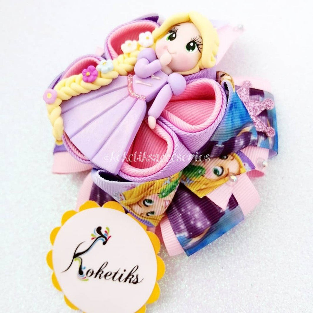 PRINCESS RAPUNZEL ** Ribbon Boutique Bow / 4