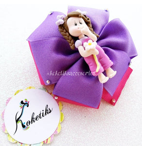 "Pijama Doll Lilac ** Ribbon Boutique Bow / 4"" - My Sprinkle Girl"