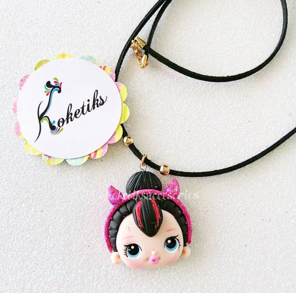 LOL Glam Leather Necklace (ONLY NECKLACE) Koketiks - My Sprinkle Girl