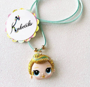 LOL Gold Hair Leather Necklace (ONLY NECKLACE) Koketiks - My Sprinkle Girl