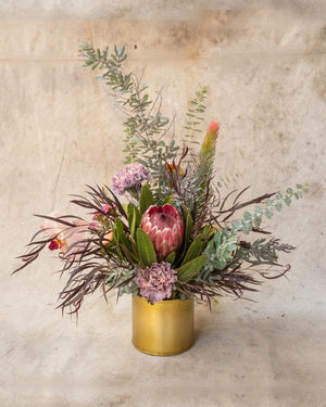 Deep, Dark and Delightful, Arrangement Delivery, The Unlikely Florist