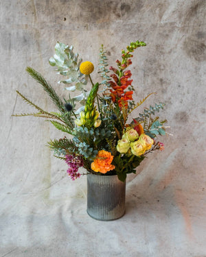 Late to the party but right on time., Arrangement Delivery, The Unlikely Florist