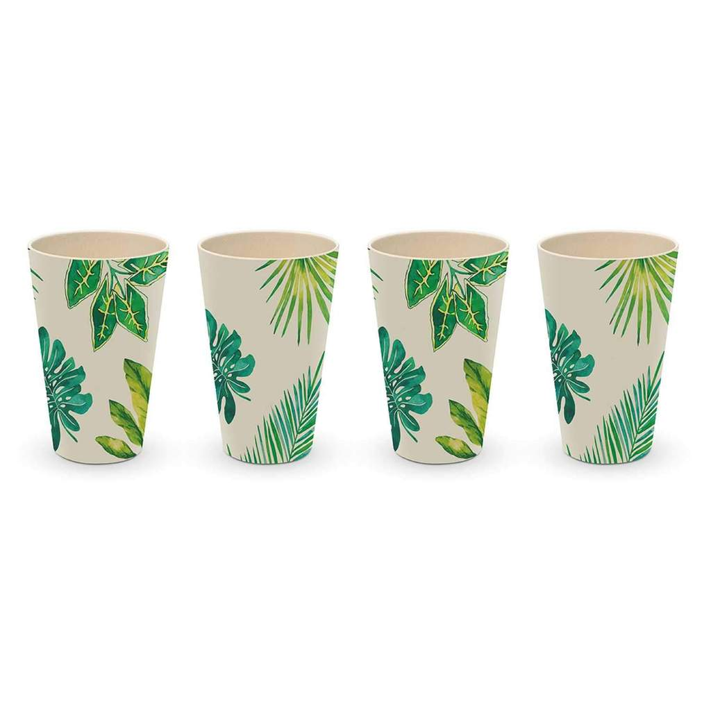 Bamboo Tumbler Set/4  Tropical Day