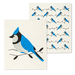 Swedish Dish Cloth Blue Jays x2