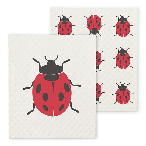 Swedish Dish Cloth Ladybug x2