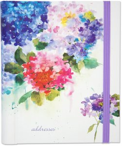 Hydrangea Large Address Book