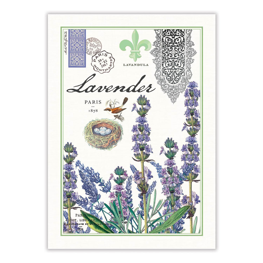 Lavender and Rosemary Tea Towel