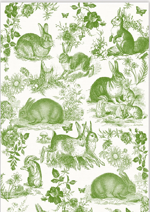 Tea Towel Bunny Toile