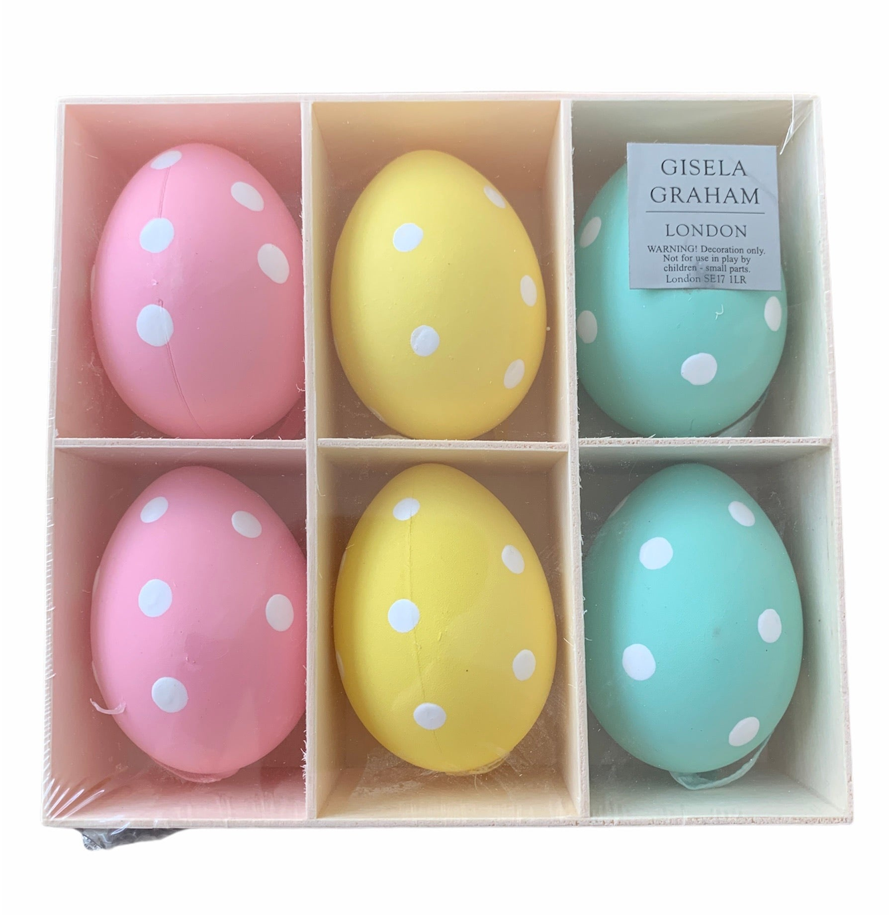 Ornament Egg Spotted Assorted Set 6