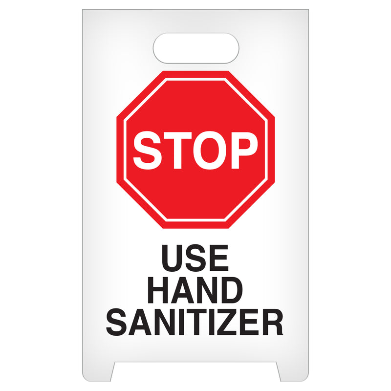 Stop Use Hand Sanitizer A-Frame Floor Sign