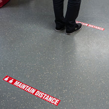 "Load image into Gallery viewer, Social Distance Message Anti Slip Floor Marking Tape 2.25"" x 54'"