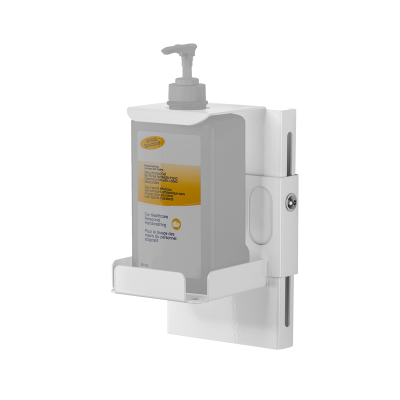 Universal Locking Hand Sanitizer Dispenser