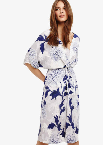 April Floral Twist Front Dress