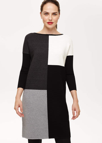 Cher Colour Block Knitted Dress