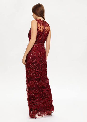 Jolene Sequin Lace Maxi Dress
