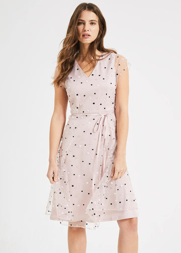 Leilani Spot Tulle Dress