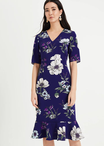 Cheryl Floral Peplum Dress