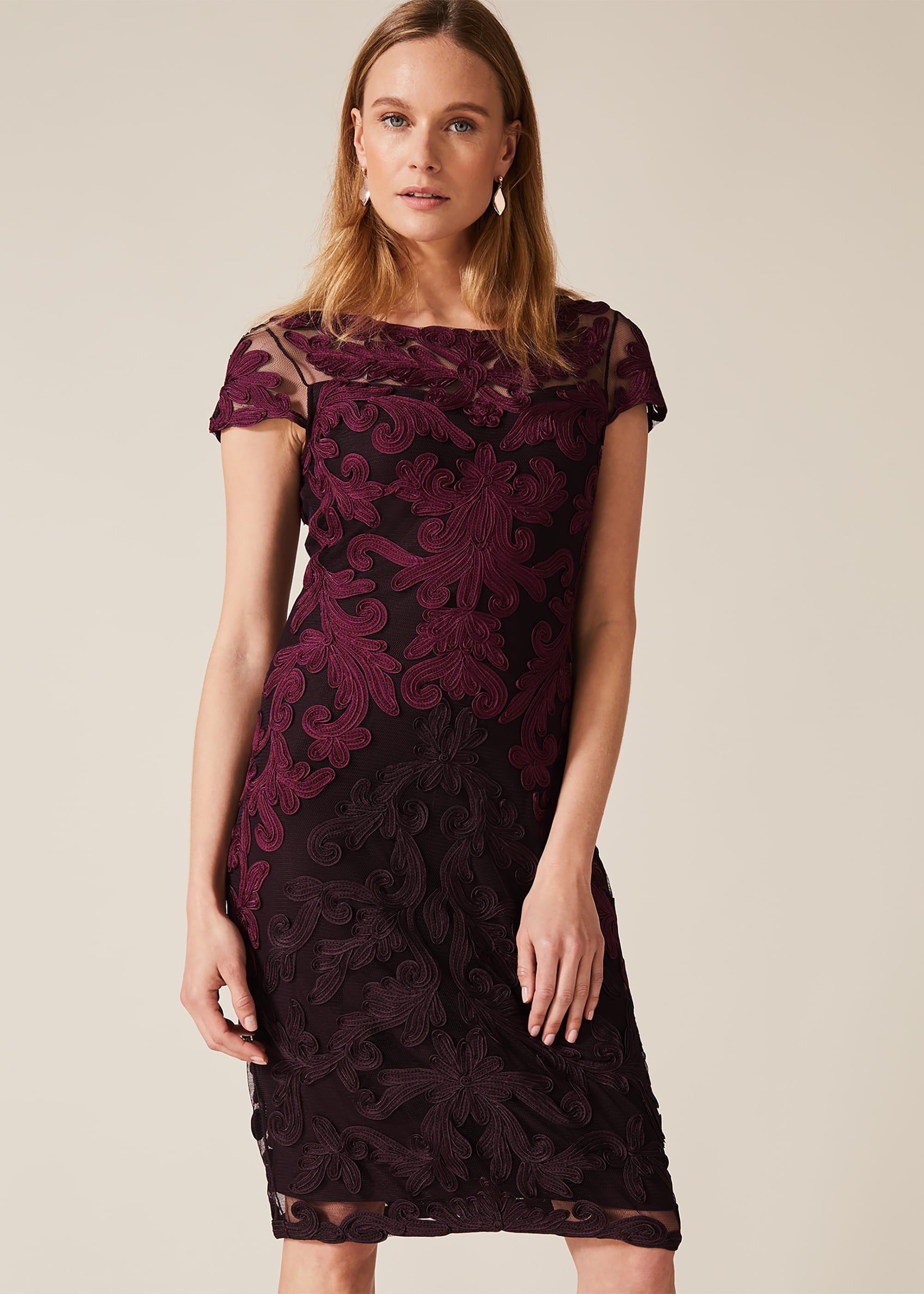 Aida Tapework Lace Dress