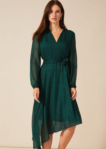Jenifer Clipped Jacquard Dress