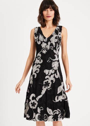 Adira Tapework Lace Dress
