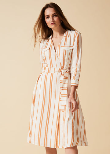 Zabel Stripe Shirt Dress