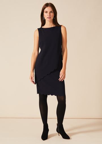 Reanna Scallop Overlay Dress
