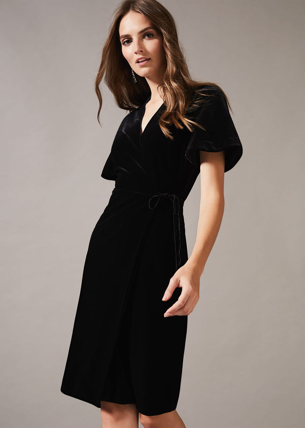Angel Velvet Wrap Dress