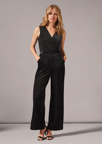 Vivi Stripe Sparkle Jumpsuit